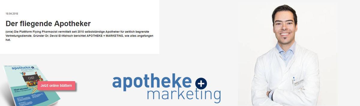 Bericht über Dr. Devid El-Wahsch, Flying Pharmacist auf apotheke-und-marketing.de